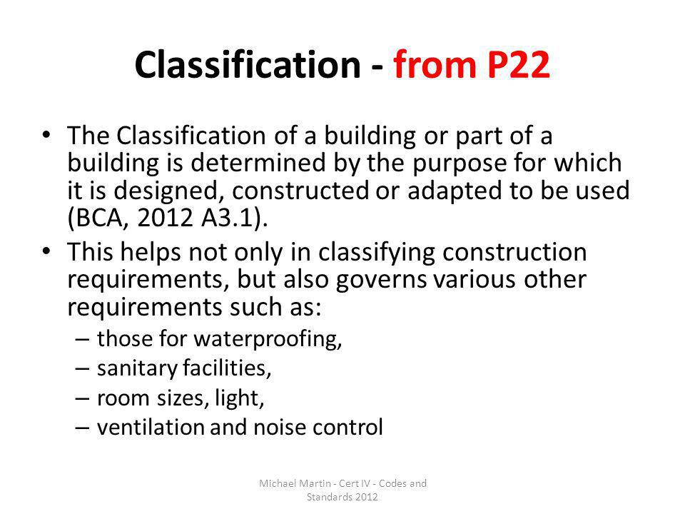 Classification - from P22