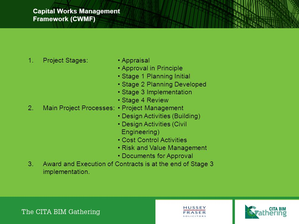 Capital Works Management Framework (CWMF)