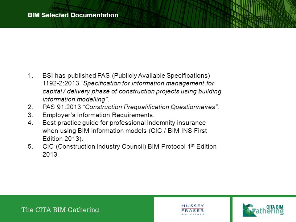 BIM Selected Documentation