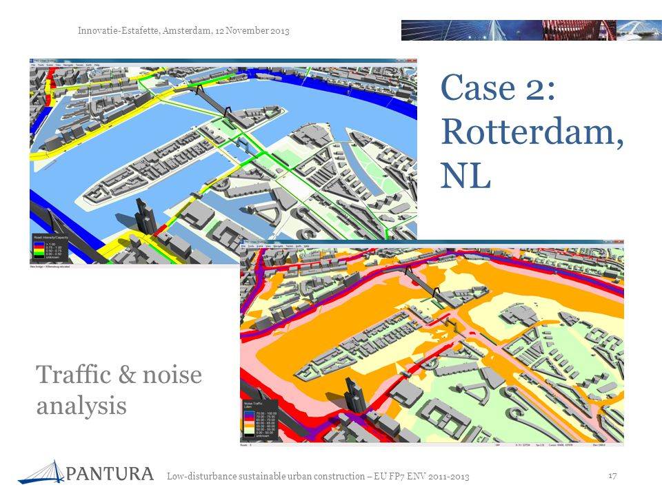 Case 2: Rotterdam, NL Traffic & noise analysis