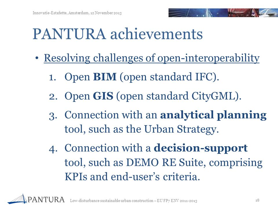 PANTURA achievements Resolving challenges of open-interoperability