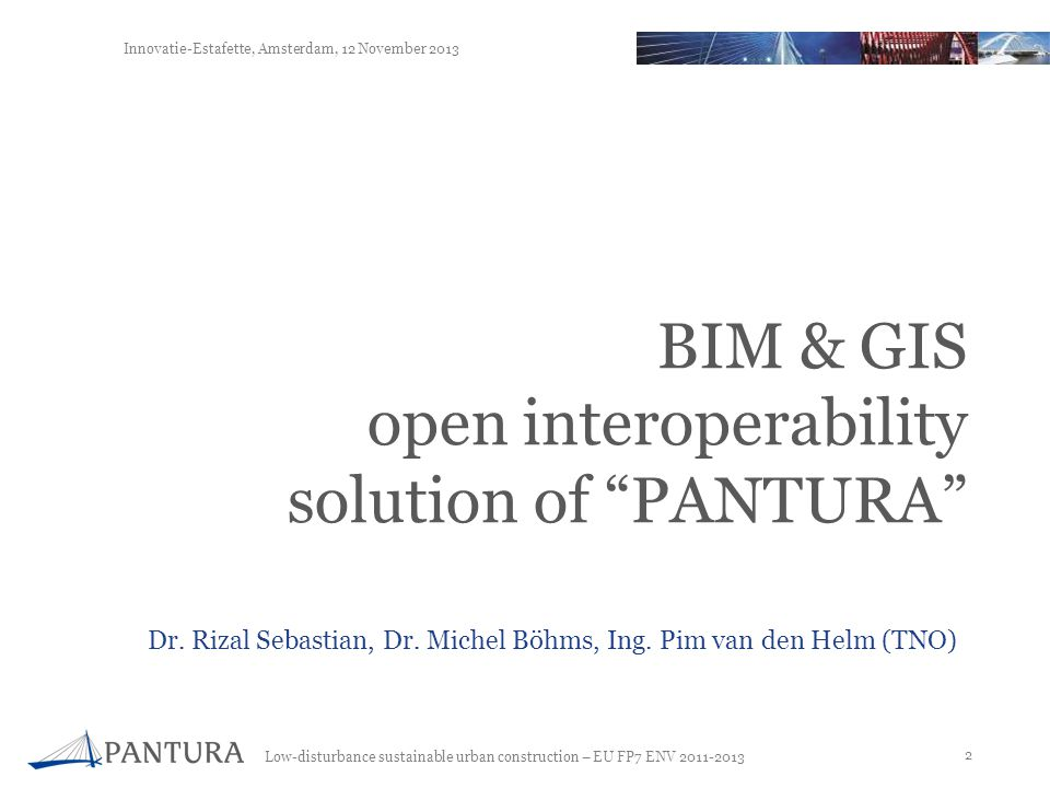 BIM & GIS open interoperability solution of PANTURA