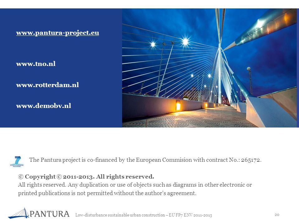 www.pantura-project.eu www.tno.nl www.rotterdam.nl www.demobv.nl