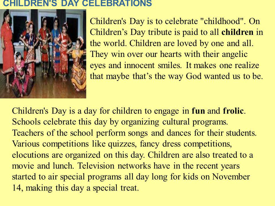 CHILDREN S DAY CELEBRATIONS