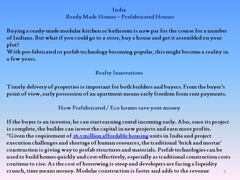 Ready Made Homes – Prefabricated Houses