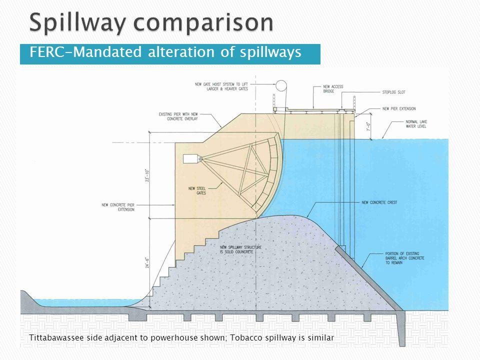 Spillway comparison FERC-Mandated alteration of spillways