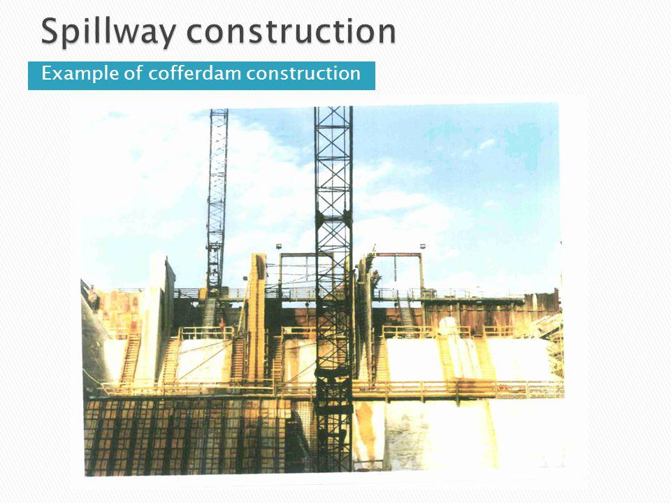 Spillway construction