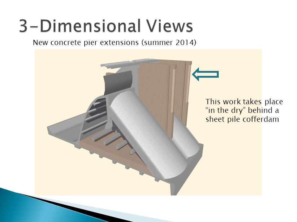 3-Dimensional Views New concrete pier extensions (summer 2014)
