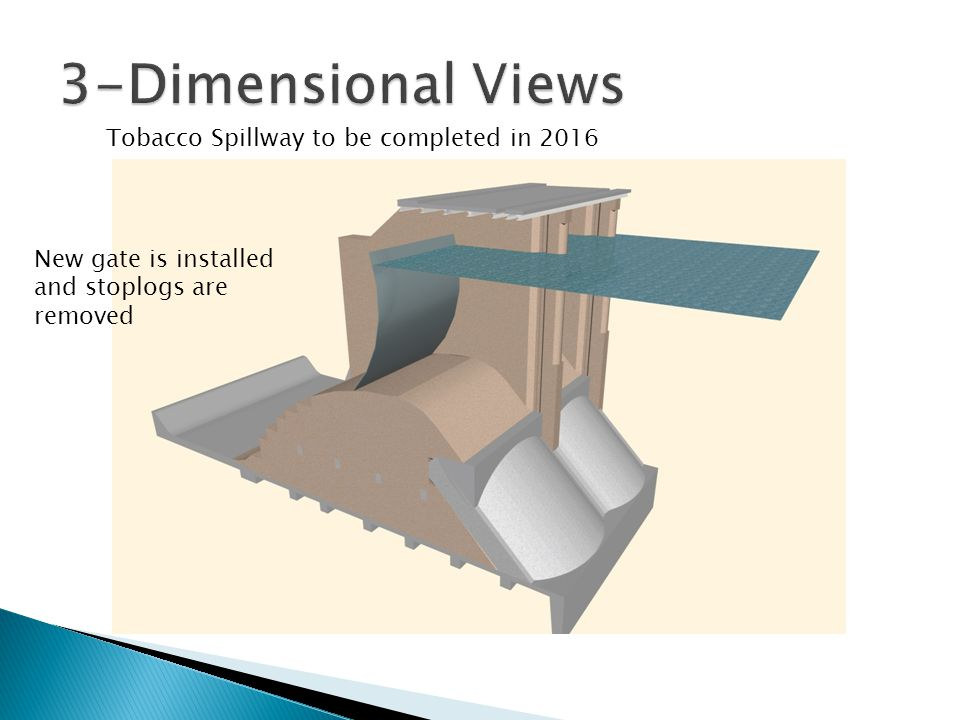 3-Dimensional Views Tobacco Spillway to be completed in 2016