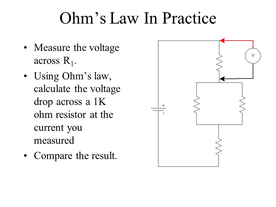 Ohm's Law In Practice Measure the voltage across R1.