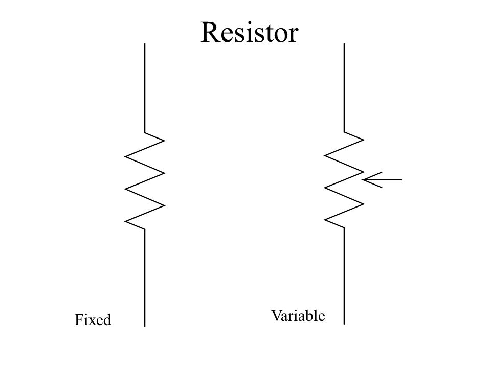 Resistor Variable Fixed