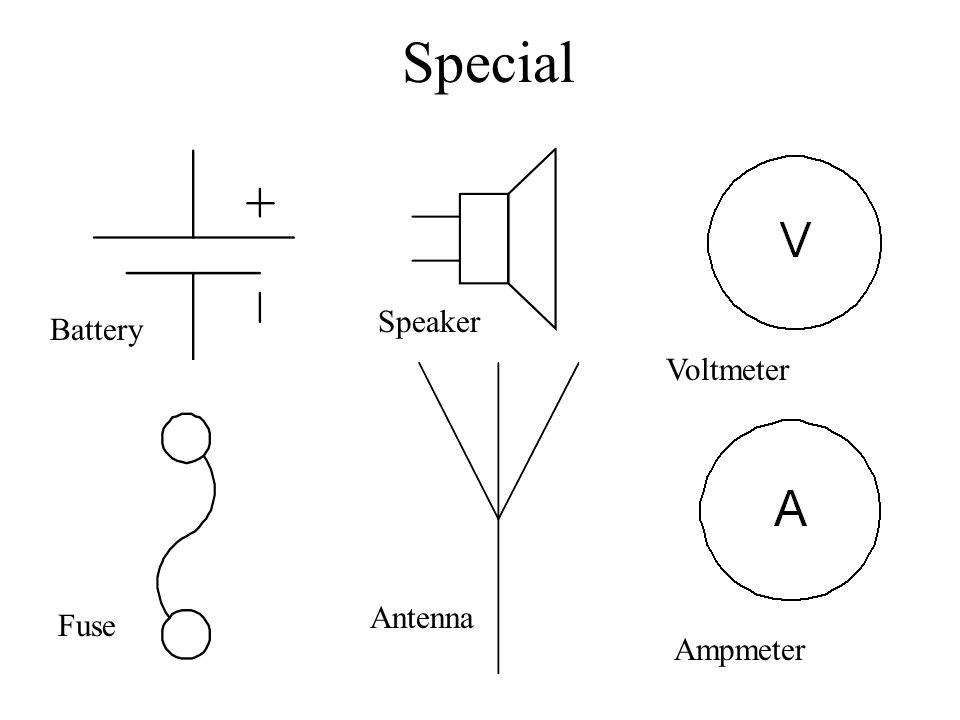 Special Speaker Battery Voltmeter Antenna Fuse Ampmeter