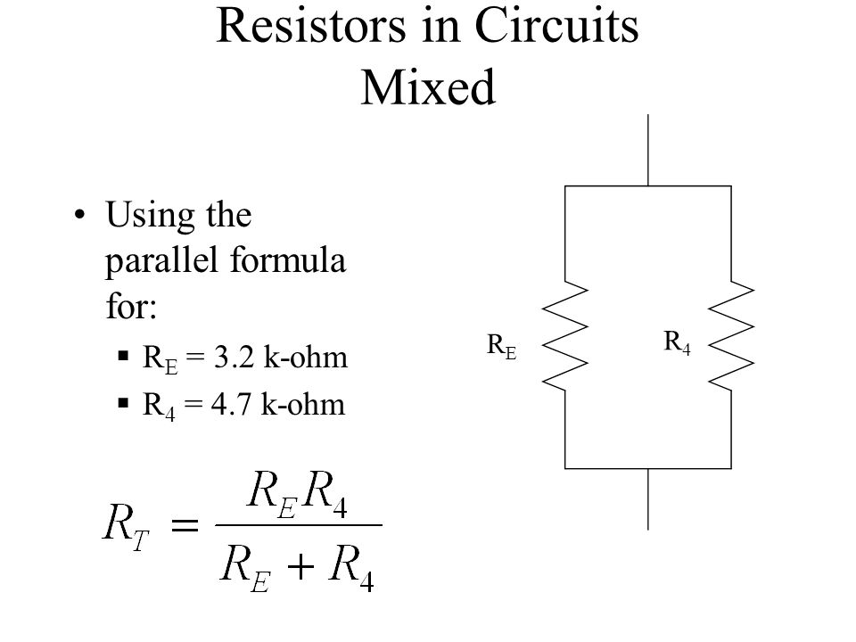 Resistors in Circuits Mixed