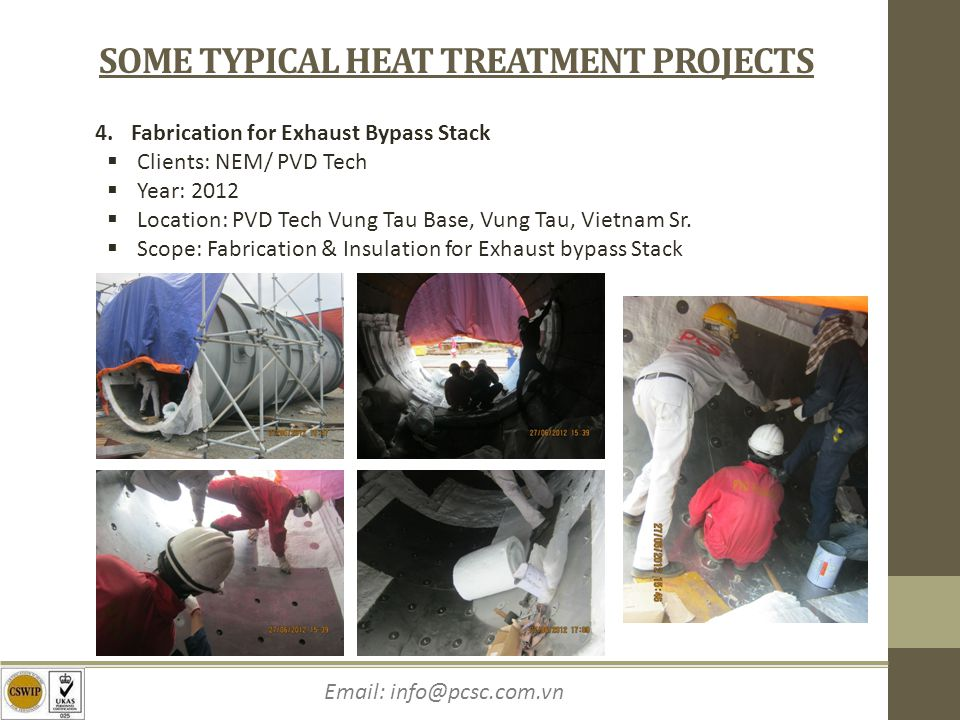 SOME TYPICAL HEAT TREATMENT PROJECTS