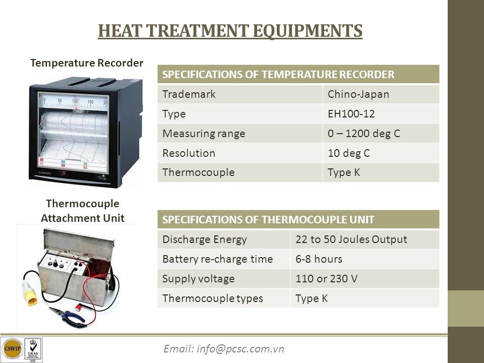 HEAT TREATMENT EQUIPMENTS Thermocouple Attachment Unit