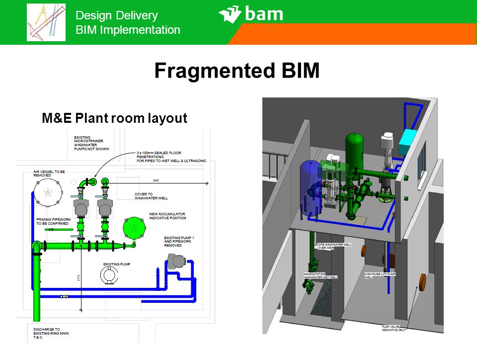 Fragmented BIM M&E Plant room layout 15