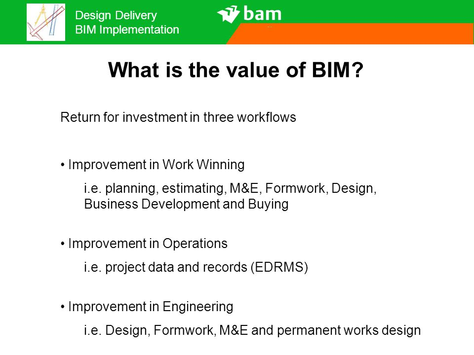 What is the value of BIM Return for investment in three workflows