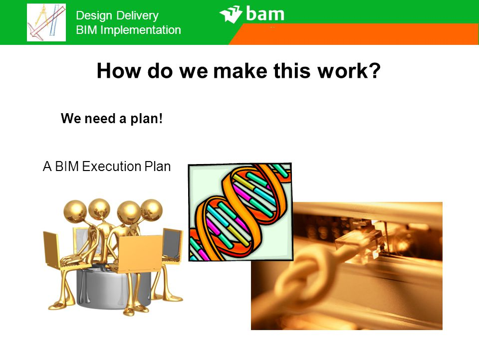 How do we make this work We need a plan! A BIM Execution Plan 27
