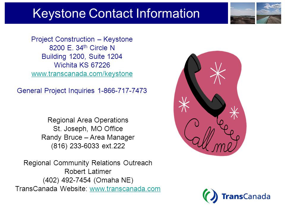 Keystone Contact Information Project Construction – Keystone. 8200 E. 34th Circle N. Building 1200, Suite 1204.