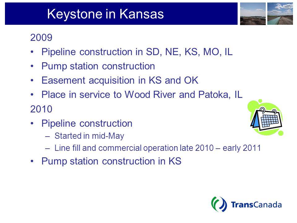Keystone in Kansas 2009 Pipeline construction in SD, NE, KS, MO, IL
