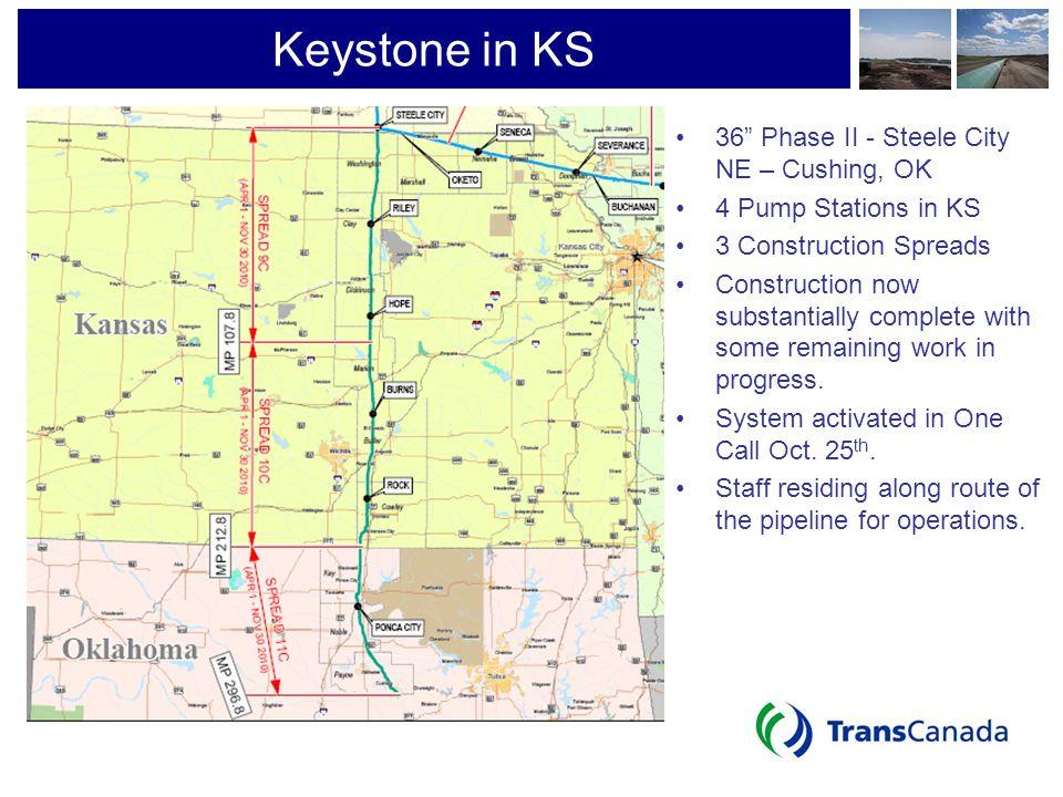 Keystone in KS 36 Phase II - Steele City NE – Cushing, OK