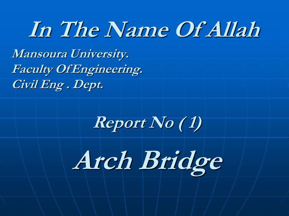 Mansoura University. Faculty Of Engineering. Civil Eng . Dept.