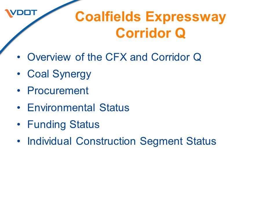Coalfields Expressway Corridor Q
