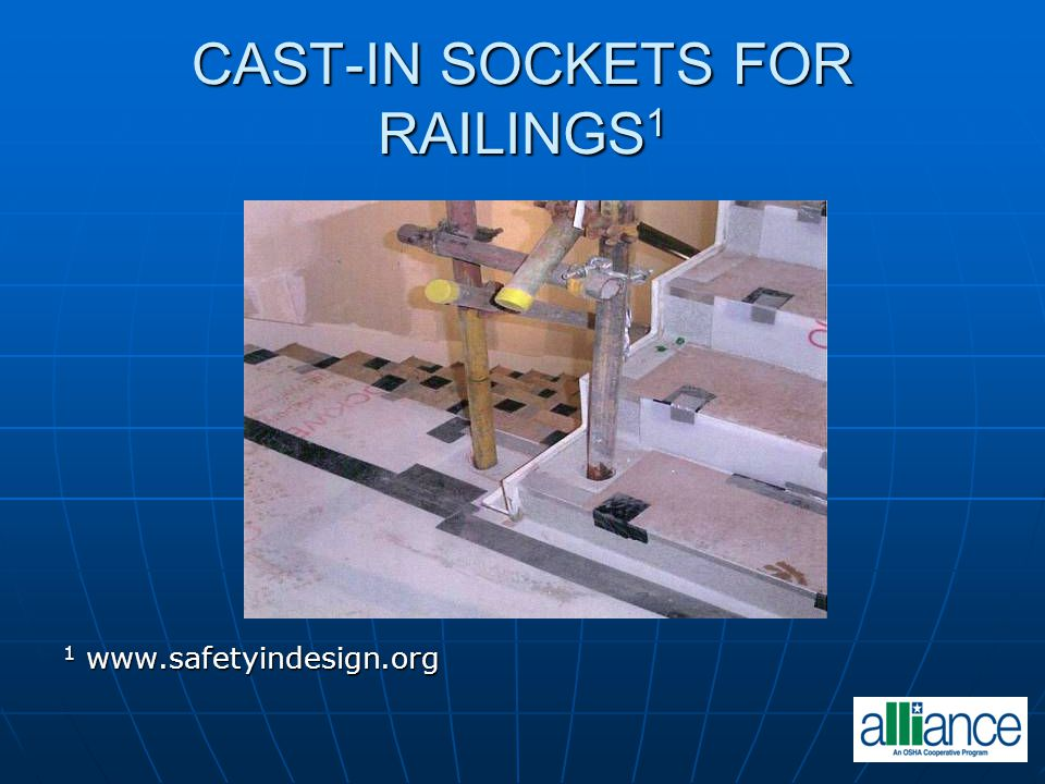 CAST-IN SOCKETS FOR RAILINGS1