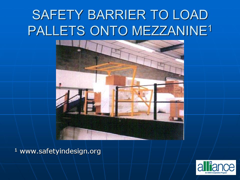 SAFETY BARRIER TO LOAD PALLETS ONTO MEZZANINE1