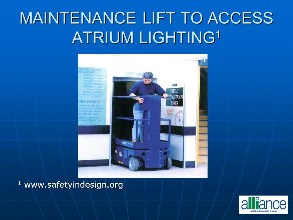 MAINTENANCE LIFT TO ACCESS ATRIUM LIGHTING1