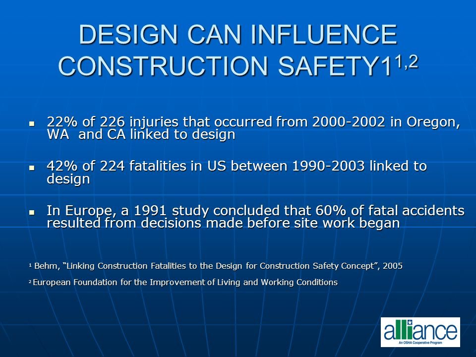 DESIGN CAN INFLUENCE CONSTRUCTION SAFETY11,2