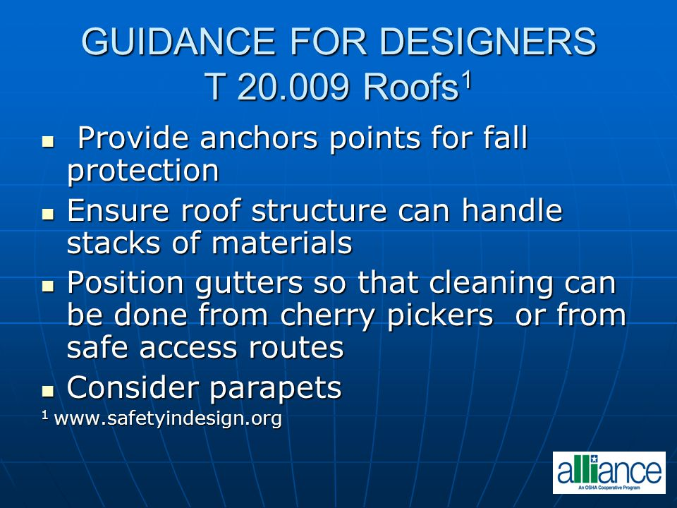 GUIDANCE FOR DESIGNERS T 20.009 Roofs1