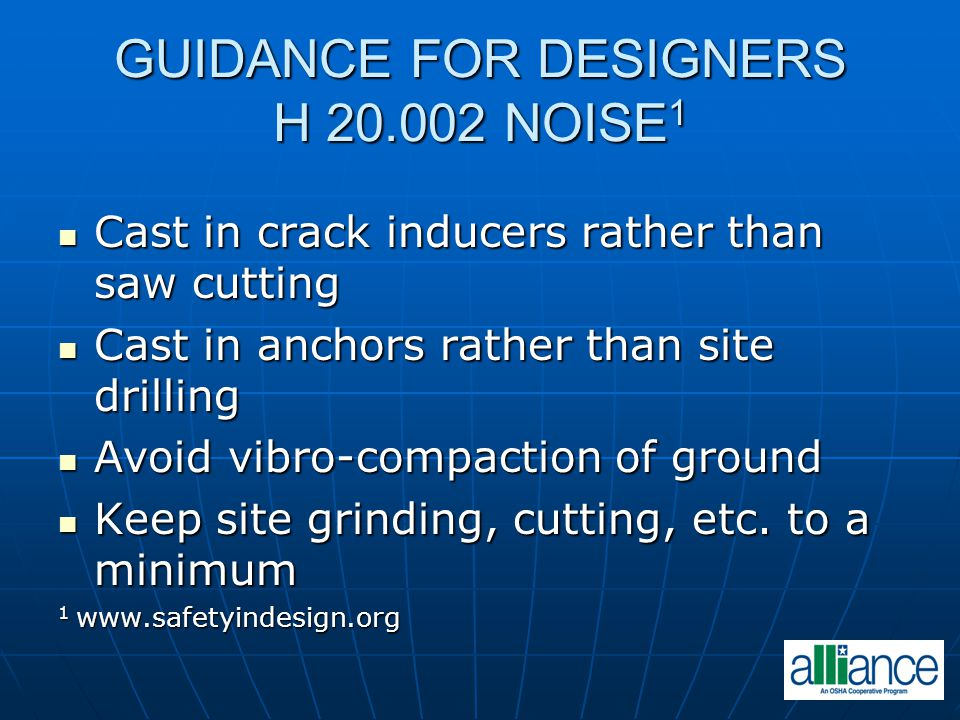 GUIDANCE FOR DESIGNERS H 20.002 NOISE1
