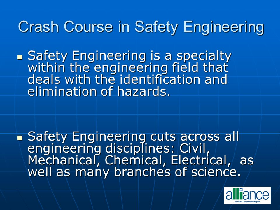 Crash Course in Safety Engineering