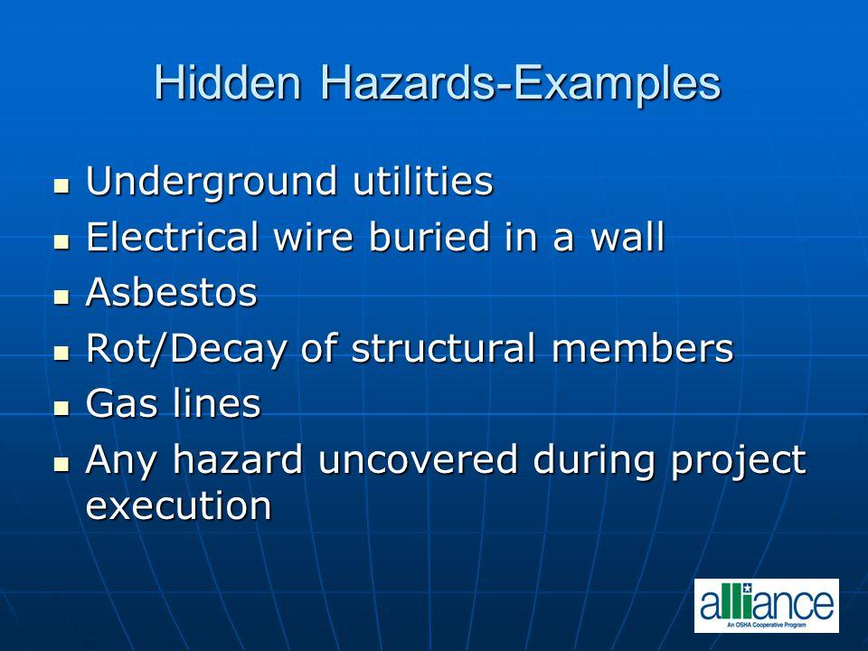 Hidden Hazards-Examples