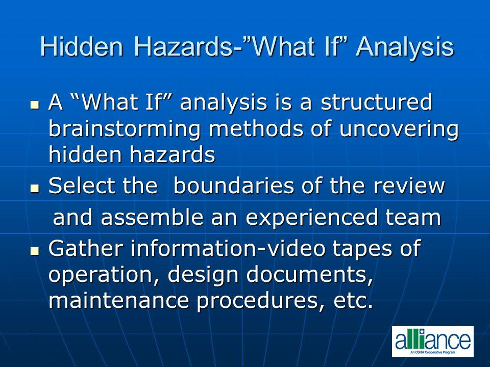 Hidden Hazards- What If Analysis