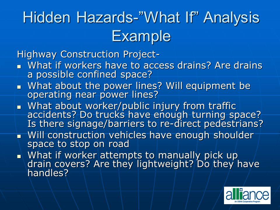 Hidden Hazards- What If Analysis Example