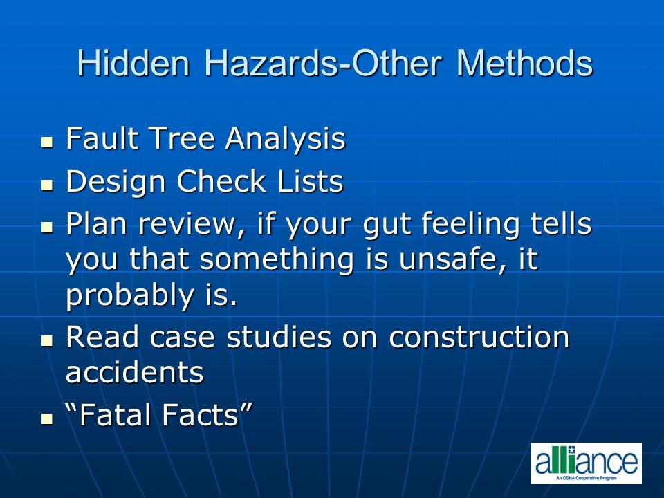 Hidden Hazards-Other Methods