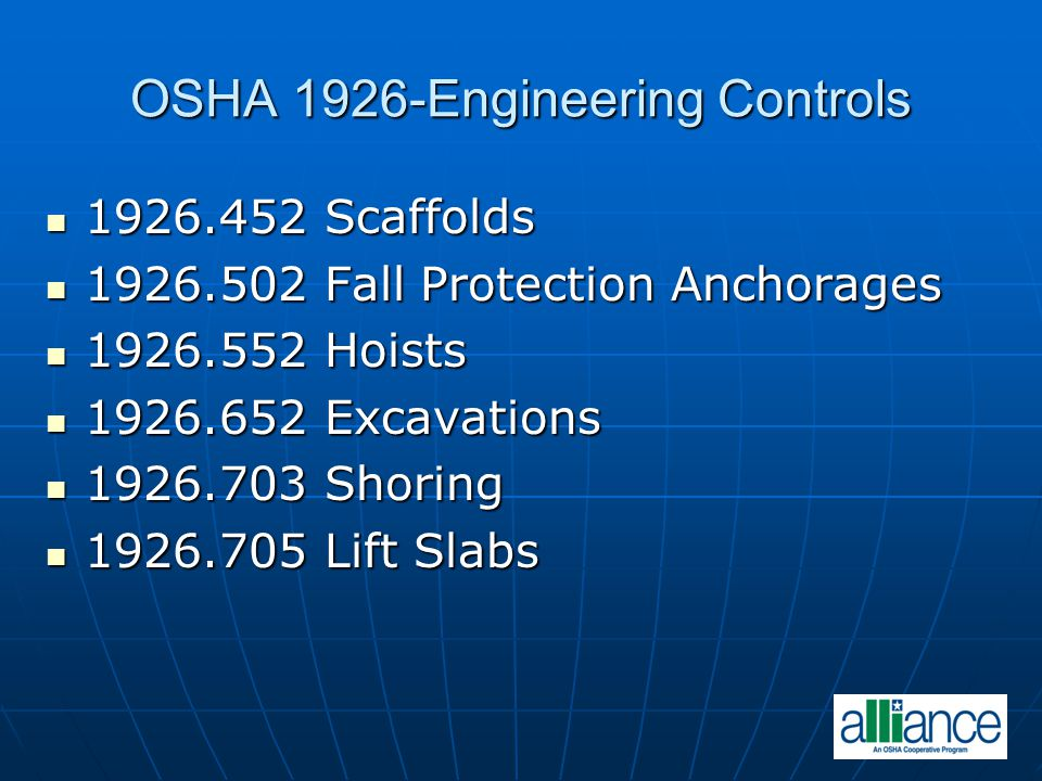OSHA 1926-Engineering Controls