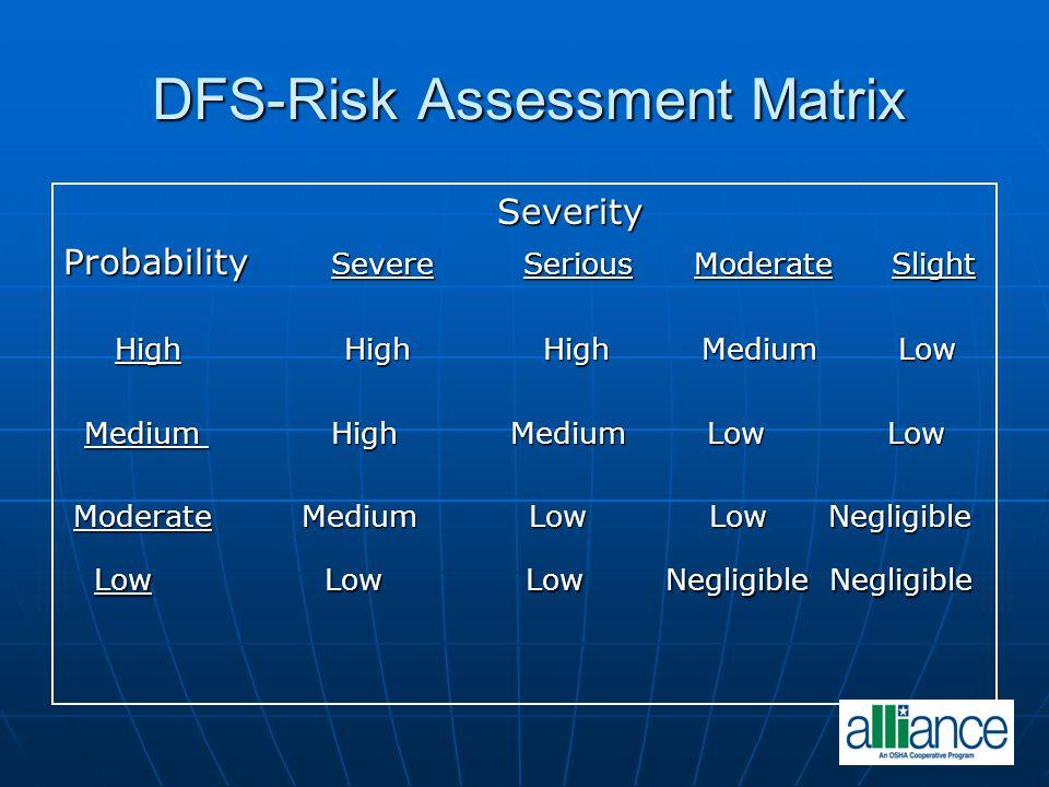 DFS-Risk Assessment Matrix