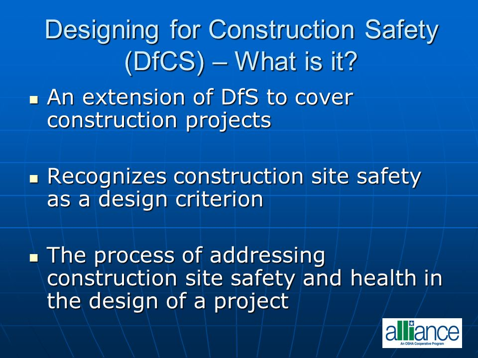 Designing for Construction Safety (DfCS) – What is it