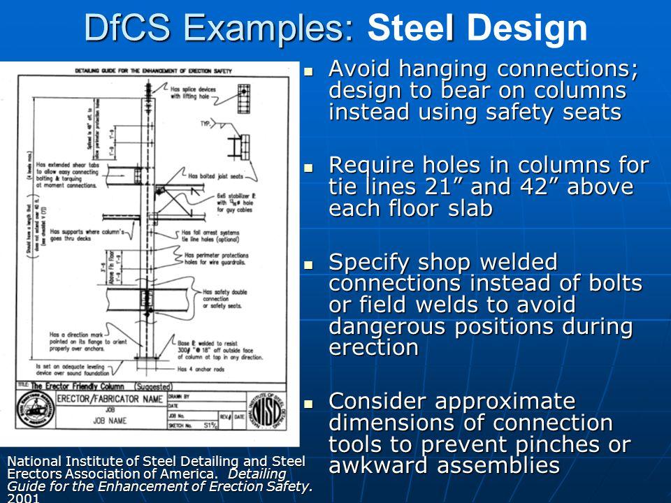 DfCS Examples: Steel Design