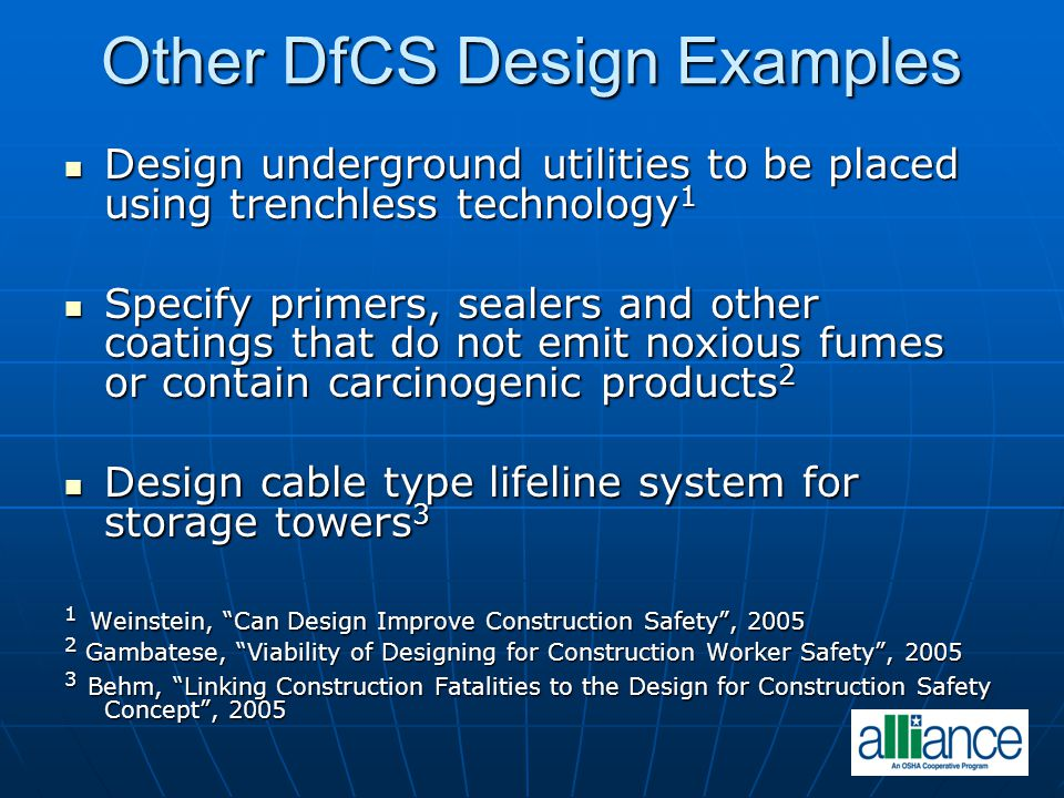 Other DfCS Design Examples