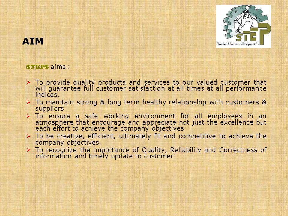 AIM STEPS aims :