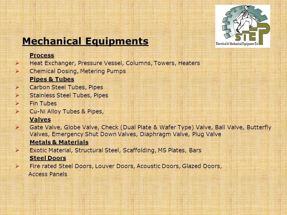 Mechanical Equipments