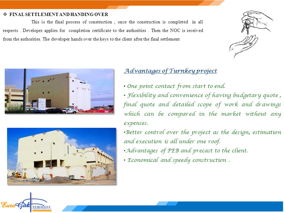 Advantages of Turnkey project