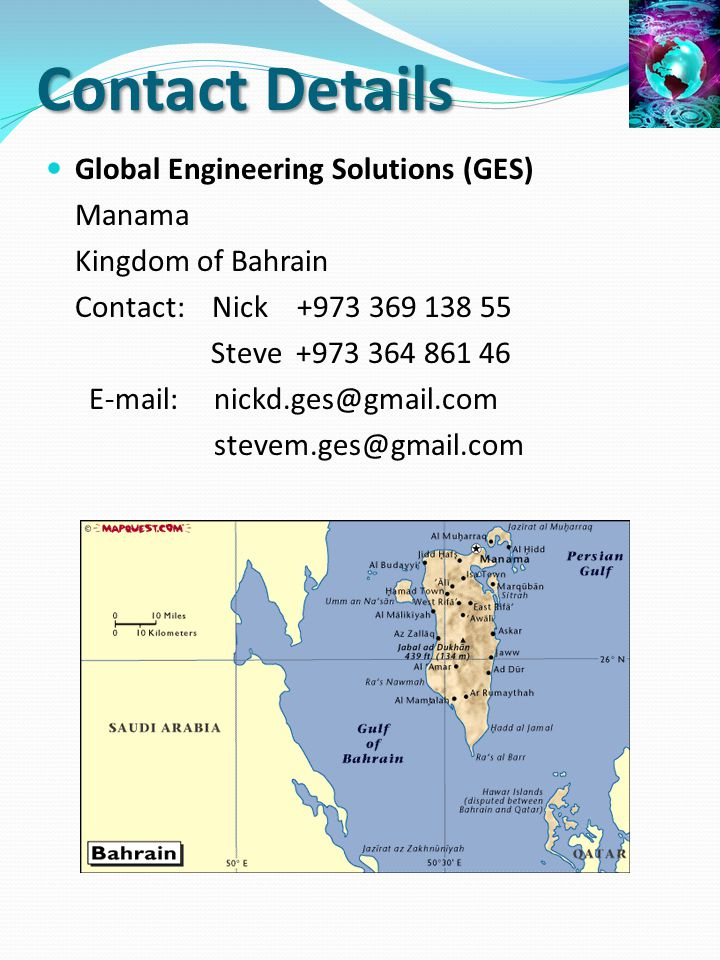 Contact Details Global Engineering Solutions (GES) Manama