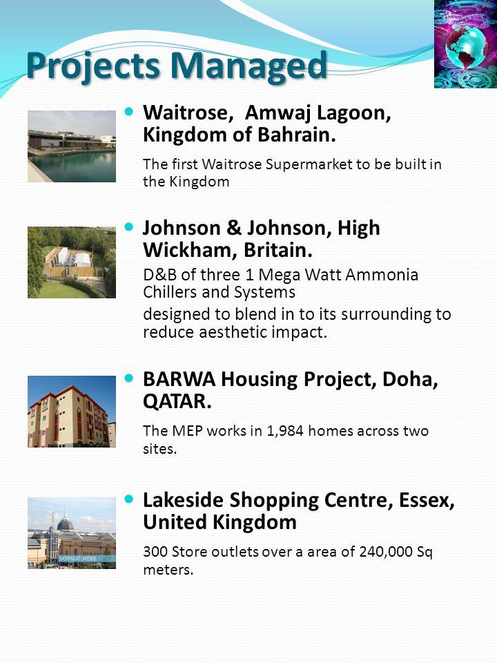 Projects Managed Waitrose, Amwaj Lagoon, Kingdom of Bahrain.