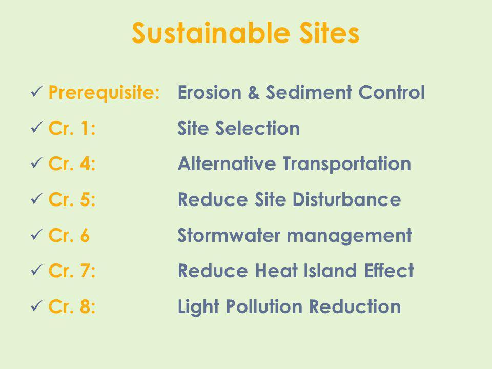 Sustainable Sites Prerequisite: Erosion & Sediment Control
