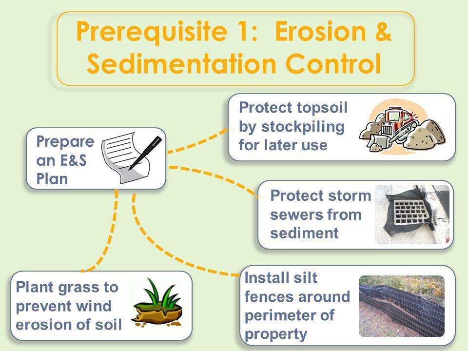 Prerequisite 1: Erosion & Sedimentation Control